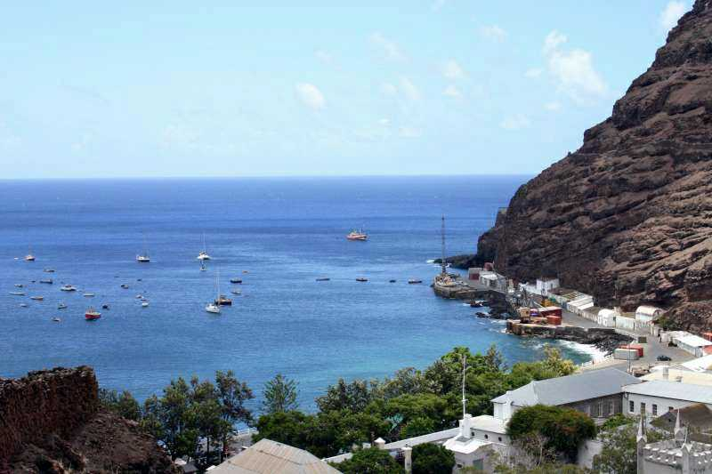 Jamestown, seafront and port facilities [Burgh House:Thinking of investing in St. Helena?]